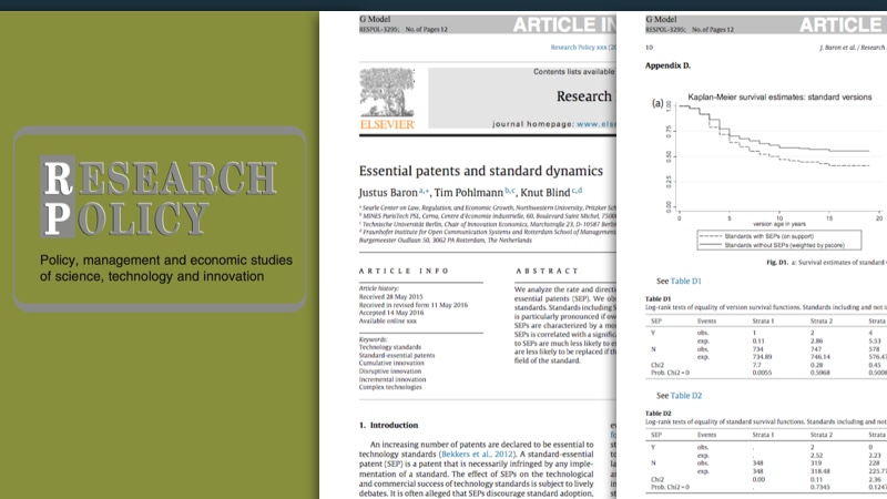The influence of patents on standardization for IoT  and smart car technologies