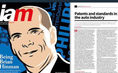 IAM magazine has published a new article on patents and standards in the auto industry