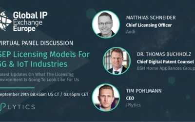 Video Recording and Presentation Slides from Webinar: SEP licensing models for IoT