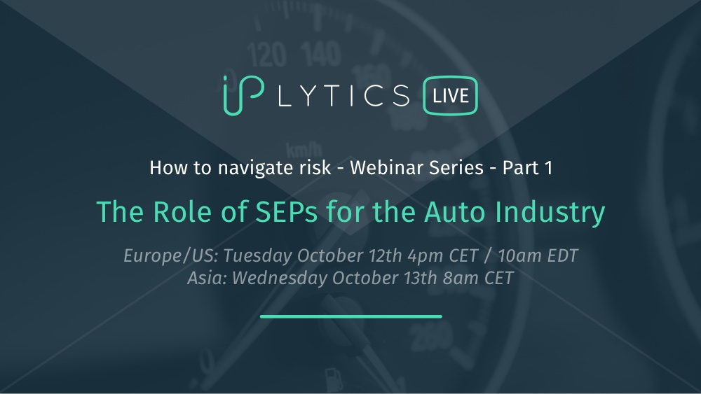 Webinar Recording and Slides: The Role of Standard Essential Patents in the Auto Industry